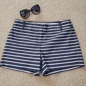 LOFT Riviera Striped Shorts